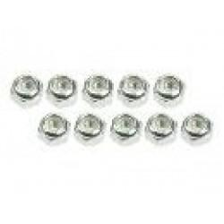 3 RACING 3RAC- N30/SI 3mm Aluminium Leck nuts silver (10pcs)