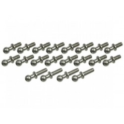 3 RACING A18-15 64 Titanium ball stud (20pcs)
