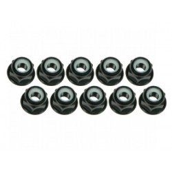 3 RACING 3RAC- NF30/BL 3 RACING 3mm Aluminium Flanged black (10pcs)