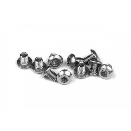 902304 X RAY M3x4 stainless hex screws Button head