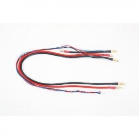 GRAUPNER 98994.L Cable de carga G4 con conector balance (0,5 m) para Saddle