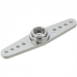 JAMARA 079871 Brazo Servo JR/Sanwa Aluminio Doble Silver