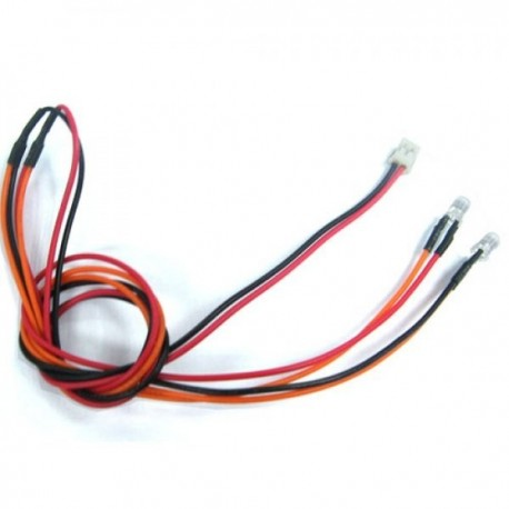 YEAH RACING LK-0021RD Neones Inferiores Crystal Light Rojo con conector