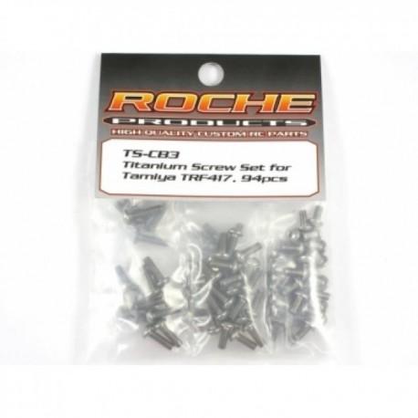 ROCHE ROC-TS-CB5 Titanium Screw Set for XRay T4, 102 pcs