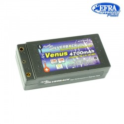 SILVERBACK 4700752SIN-96 Venus 4700mAh 75C150C 7.4v Inboard Shorty Pack