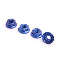 SPEC-R SPR025-NUBL 4mm Alu Lock Nut (4 pcs Blue)