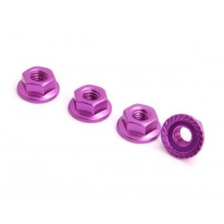 SPEC-R SPR025-NUPU 4mm Alu Lock Nut (4 pcs Purple)