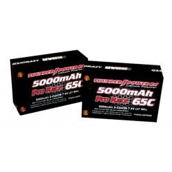 THUNDER POWER TPM-TP5000-S2PR65S Pro Race Saddle Pack 5000 mAh, 65 C
