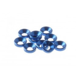 HIRO SEIKO 69256 4 mm Alloy Guntersunk Washer (10pcs) Y-blue