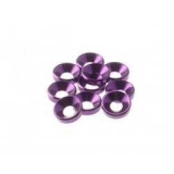 HIRO SEIKO 69257 4 mm Alloy Guntersunk Washer (10pcs) purple