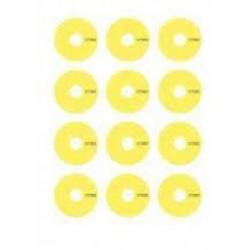 LRP 65078 Adhesivos llantas 1/10 amarillos