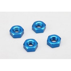 YOKOMO ZC- N3APB 3mm Aluminum Nut (Blue 4pcs)
