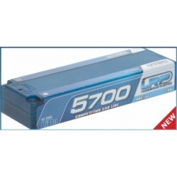LRP LiPo Competition Car Line Hardcase 5700 - 80C/40C - 7.4V