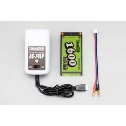 YOKOMO YZ-LP160 Li-po1600mAh/7.4V AC Charger Set