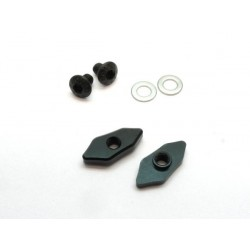MR33 Alum Touring Car Rear Wing Holder Set