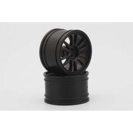 YOKOMO GT-29E ENKEI Front Wheel for GT500 (Black 2pcs)