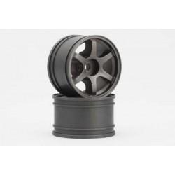 YOKOMO GT-30RG  RAYS Rear Wheel for GT series (Gun metal 2pcs)