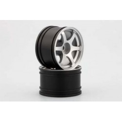 YOKOMO GT-30RS RAYS Rear Wheel for GT500 (Silver 2pcs)