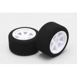 YOKOMO GT- 42S Wheel assembled/foamed rear sponge tire (Soft) for GT Series