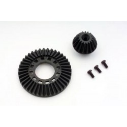 YOKOMO SD-643 Ring Gear & Drive Gear (Graphite) for Front One Way & Solid Axle RF CONCEPT