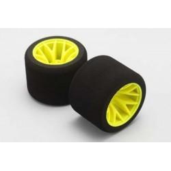 """YOKOMO R12- 28TSS Rear SUPER SOFT"""" CRT tire (Assembled for 1/12 Racing)"""""""