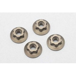 Aluminum Large-diameter Flanged Nut _Serrate_4pcs)