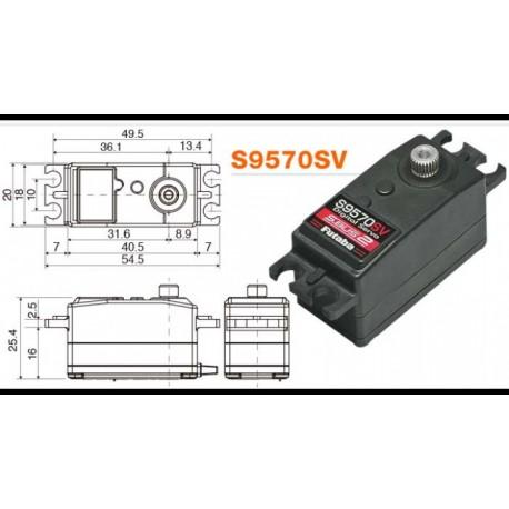 FUTABA S9570SV SERVO LOW PROFILE