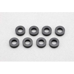 YOKOMO ZC- A3620B 3×φ6×2.0mm Aluminum Shim (8pcs・Black)