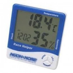 MR-RH3B MUCH MORE Race Helper , Clock Temperature Humidity, Blue