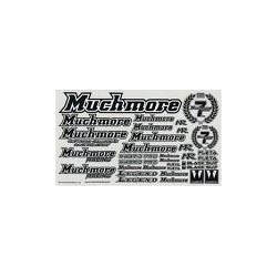 MUCHMORE MR- D13 ISTC MR Logo Decal Black  White Background Standard