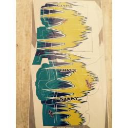 DR GRAPHICS SANMXIIX-0002 Decal Sanwa MXII-X blue and Yellow