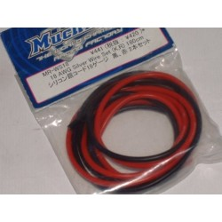 MR-WS18 MUCHMORE 18AWG SILVER WIRE SET 180CM ROJO,NEGRO
