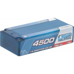 LRP 430204 LiPo 1/10 Competition Car Line Short SubC Hardcase 4500 - 110C/55C - 7.4V