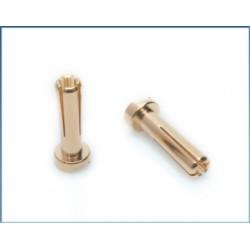 LRP 65815 4mm Gold Works Team connectors (10 pcs.)