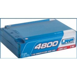 LRP 430219 4800 - Square Pack - 110C/55C - 7.4V LiPo - 1/10 Competition Car Line Hardcase