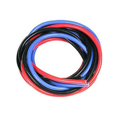 MUCHMORE MR- WS16 16 AWG Silver Wire Set, Blue/Black/Red, 180cm
