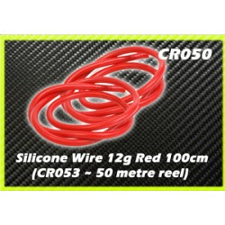 CORE RC CR050 Silicone Wire 12g - Red 1 Metre