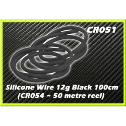 CORE RC CR051 Silicone Wire 12g - Black 1 Metre