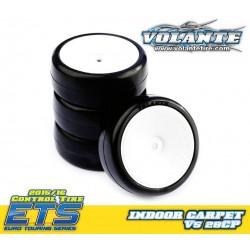 Volante V5 1/10 TC 28CP Indoor Carpet Rubber Tire Pre-glued 4pcs