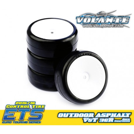 Volante V5 Tough 36R 1/10 TC Rubber Tire Pre-glued 4pcs