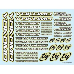 YOKOMO ZC- D15Y Team Logo Decal 2015 YELLOW