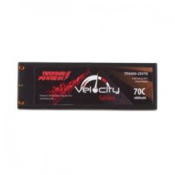 THUNDER POWER TP6000- 2SV70B RC Velocity Series 70C 6000mAh 2-Cell/2S 7.4V LiPo Battery