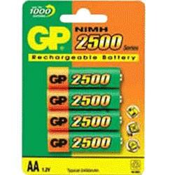 GP BATERIAS AA 2500 NIMH RECARGABLES
