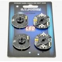 GT POWER RCX03- 263 RC Car Dynamic Wheel Light (BLUE)