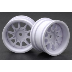 RIDE RI- RH-1236W Mini 10 Spoke Wheel Wide Offset - White