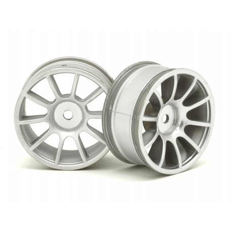 RIDE 25007 1/10 M-Chassis 47, 10 Spoke Wheels matte Silver