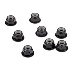 TEAM LOSI LOSA6315 Wheel Nuts, Aluminum, M4x0.7MM (8pcs)