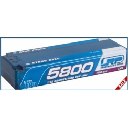 LRP 430222 BATERIA 5800 TC Stock Spec - 110C/55C - 7.4V LiPo - 1/10 Competition Car Line Hardcase