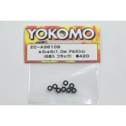 YOKOMO ZC- A3615 3mmx6mmx1.5mm Aluminum Shim (8pcs) BD5