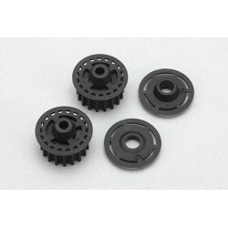 YOKOMO Z4- 630CR Center & rear pulley w/Frange for YZ-4